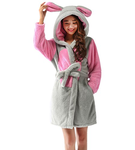 Con Cappuccio Costume Pile Corallo Deley Cosplay Abiti Accappatoi Mouse Coppia Donne Caldo Animale In Pigiameria Vestaglia Unisex wwSZzq8