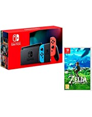 Nintendo Switch console Joy-Con Blu/Rosso 32Gb + The Legend of Zelda: Breath of the Wild
