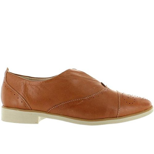 - Chelsea Crew Westy - Tan Leather Perforated Slip-On Oxford - Size: 7