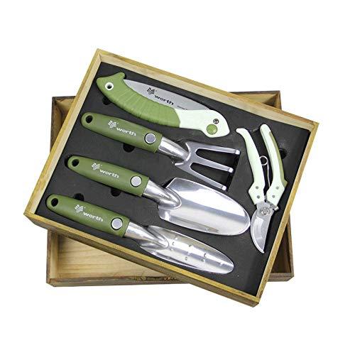 園芸5ピースセットギフトボックスシャベルシザーソーガーデニングツール高級ギフトセット B07M68LWS6