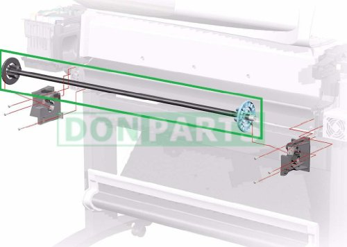 42'' Rollfeed Spindle Rod Assembly for HP DesignJet 500 800 by donparts