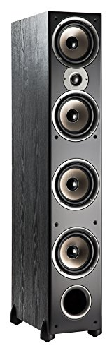Polk Audio Monitor 70 Series II Floorstanding Speaker - Bestseller for Home Audio | Big Sound, | Incredible Value | 1 (1-inch) Tweeter and 4 (6.5-inch) Woofers | Black, Single