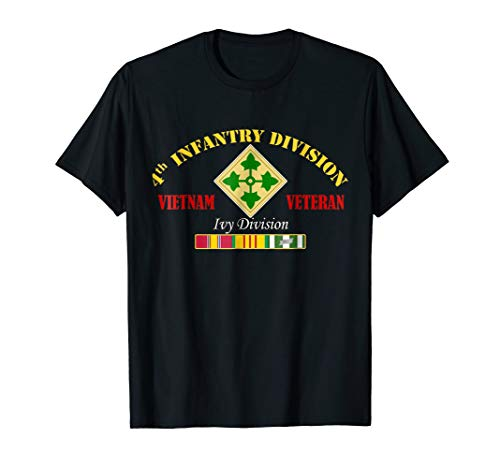 4th Infantry Division Vietnam Veteran T-Shirt Ivy Division ()