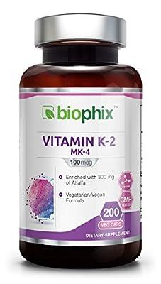 Biophix Vitamin K-2, 100mcg - 200 Caps