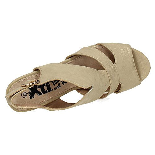 XTI 046593, sandales femme Or