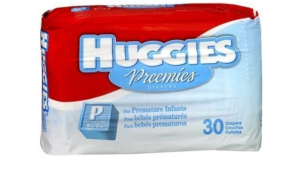 Amazon.com : Huggies Gentle Care Preemies Diapers, Size P, 30-count by Kimberly-Clark [parallel import goods] : Baby