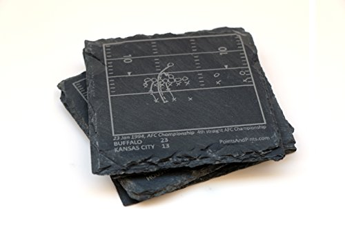 Bills Greatest Plays - Slate Coasters (Set of 4) (Wilson Ralph Stadium)