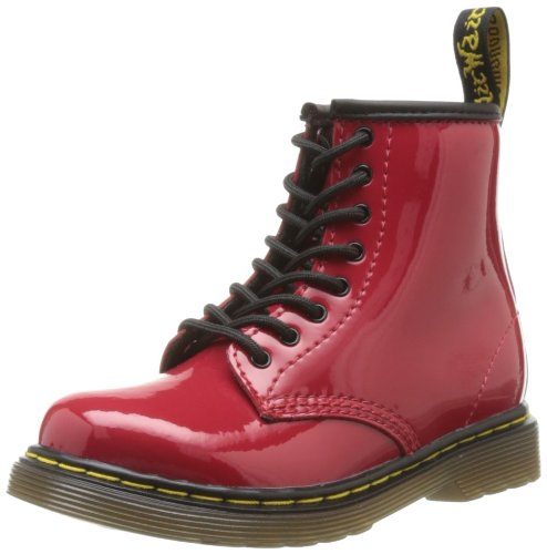 Dr Martens Brooklee - Botas de Charol para niña Rojo Rouge (Red) 22: Amazon.es: Zapatos y complementos