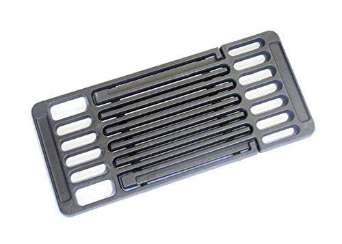 Hongso Extension Cast Iron Cooking Grate Adjustable Grill Grid Replacement for BBQ Grills Gas Eletric Grills, Universal Cooking Grids Extend from 14