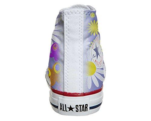 mys Converse All Star Hi Personnalisé et Imprimés Chaussures Coutume, Sneaker Unisex (Produit Italien Artisanal) Camomil Texture