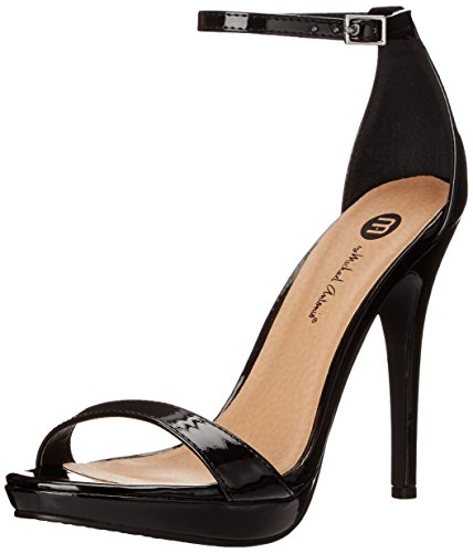 Michael Antonio Women's Lovina-PTN Platform Dress Sandal, Black 2 Patent, 7.5 M US