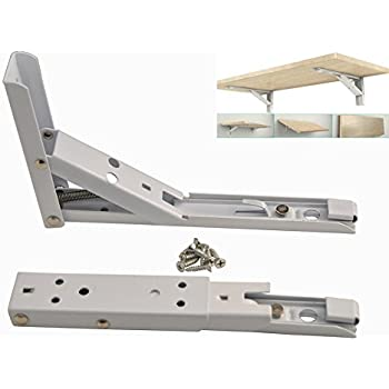 Accessbuy Folding Spring Loaded Supports Wall mount Support for Undermount Sinks,Microwave, Beds and Other Furniture (8 inch)