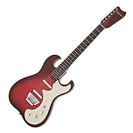 Silvertone 1449 Guitarra Eléctrica Red Sparkle Metallic