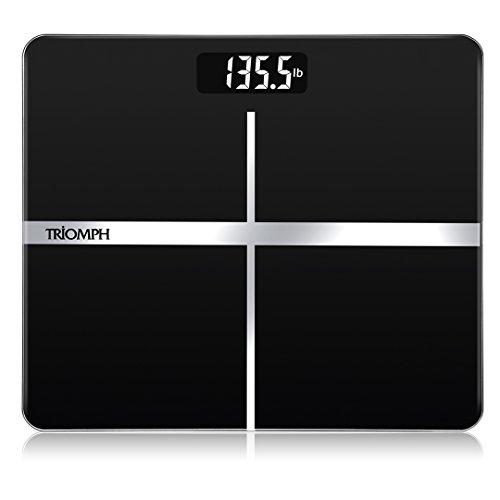 Triomph Precision Digital Body Weight Bathroom Scale with Ba
