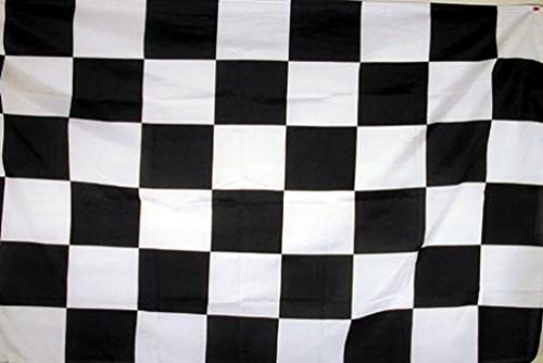 BLACK and WHITE CHECKERED RACING FLAG - NASCAR 3x5 NEW