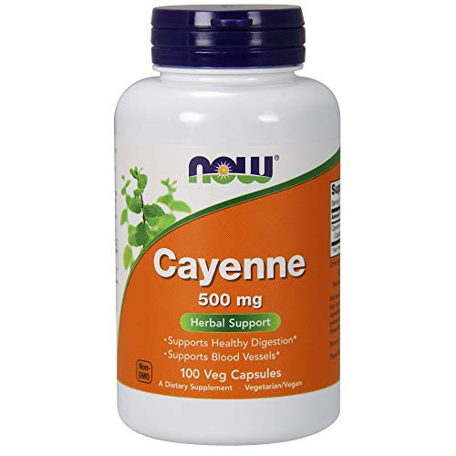 NOW Cayenne 500 mg, 100 Veg Capsules (3 Pack)