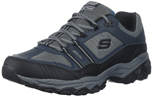 Skechers Sport Men's Afterburn Strike Memory Foam Lace-Up Sneaker,Navy/Gray,10.5 M US