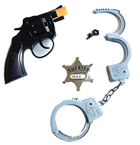 Police Toy Set Revolver Gun Handcuffs Sheriff Badge]()