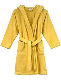 Girls Robe, Kids Hooded Cotton Terry Bathrobe, Made in Turkey