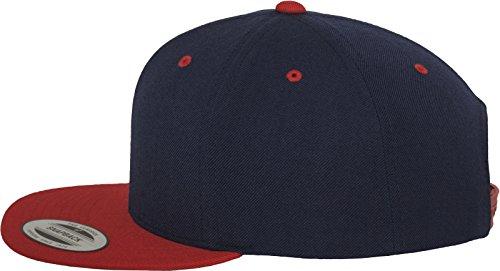 única unisex 2 Multicolor Red Snapback Mütze Flexfit tone Talla Nvy Gorro Classic pq88Y1