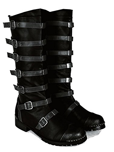 SharpSpirit Strapped Steampunk Military Combat Gothic Mens Boots sFa3gx