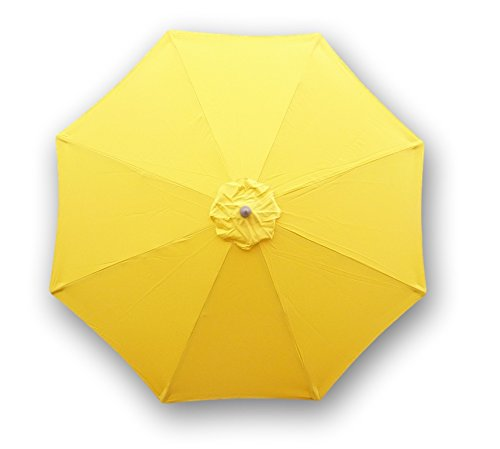 9ft Umbrella Replacement Canopy 8 Ribs in Yellow Olefin (Canopy Only) (Parasol Covers Replacement)