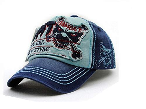 レジャー野球帽男性用スナップカセット女性用帽子アクセサリー,空色,56?62cm