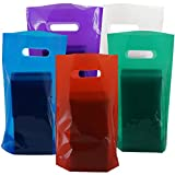 Small Plastic Bags (50 Pack) Treat Bags, Party Favor Bags, Goodie Bags For Kids Birthday Parties by Wilde Tyke (TM)