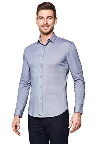 (Buttercloth Silver Lining Button Down Dress Shirt in Gray as seen on Shark Tank)