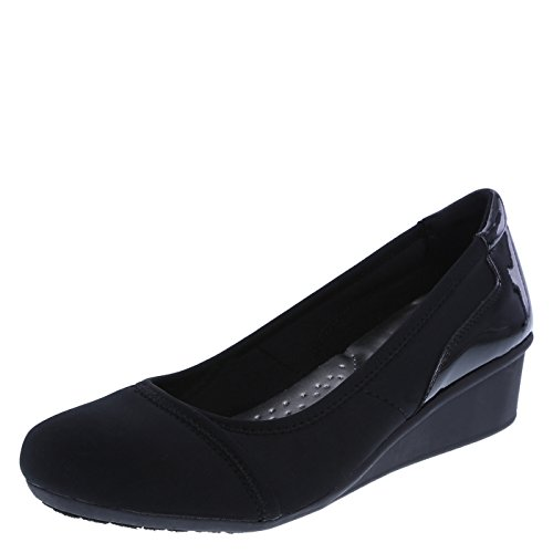 dexflex Comfort Black Women's Dusk Wedge 8.5 Regular by dexflex Comfort