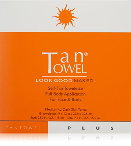 Tan Towel Self Tan Towelette Plus 15 Count (Tan Body Towels)