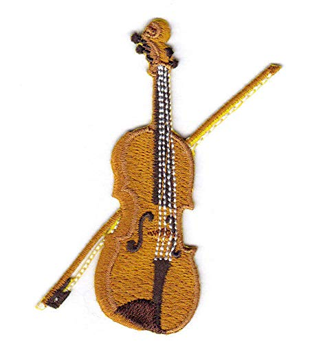 VIOLIN Iron On Patch Musical Instrument Orchestra Symphony