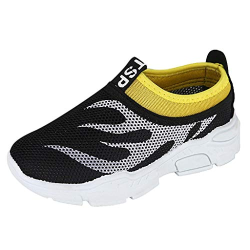 Tantisy ♣↭♣ Toddler Kids Water Shoes Breathable Mesh Running Sneakers Sandals for Boys Girls Running Pool Beach Black ()