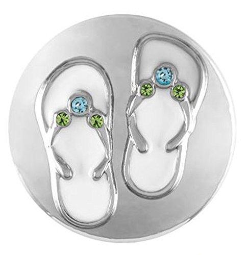 (Ginger Snaps Flip Flops SN21-28 (Standard Size) Interchangeable Jewelry )