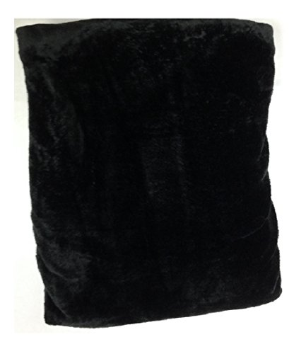 Queen Blanket Sumptuously Soft Plush Coral Fleece Mega Throw/reversible Bedspread (Black)