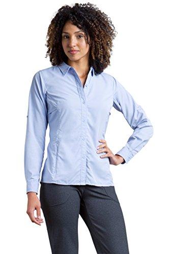 (ExOfficio Women's BugsAway Viento Long Sleeve, Capri Blue, X-Large)