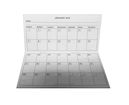 Pocket Date Book - Pack of 2 - 2 Year Pocket Calendar, 2018-2019, Fits Standard Sized Checkbook Cover, 3