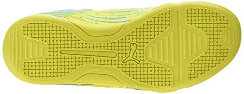 Puma Meteor Sala LT - zapatillas de fútbol de material sintético Unisex adulto amarillo - Gelb (sulphur spring-cloisonné 02)