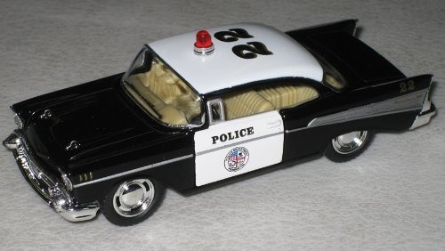 (Kinsmart 1957 LAPD Police Chevy Bel Air 1/40 Scale Diecast Squad Car by Kinsmart)