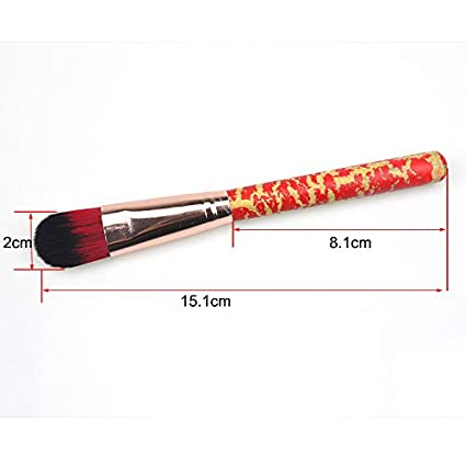 Cepillo de dientes suelto Brochas de maquillaje fino Beauty Tool (Rojo) FGVBHTR