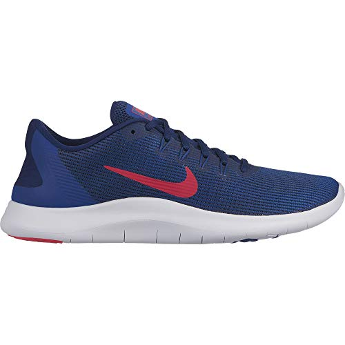 Nike Men's Flex RN 2018 Running Shoe Blue Void/Red Orbit/Indigo Force/White Size 11 M US by Nike (Image #1)