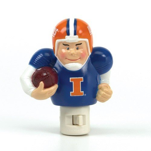 Acrylic Fighting Illini Football (Illinois Fighting Illini Night Light Player Running)