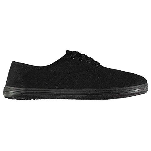 Femmes Escarpins de Chaussures Noir Toile 38 Slazenger qwP6dSP