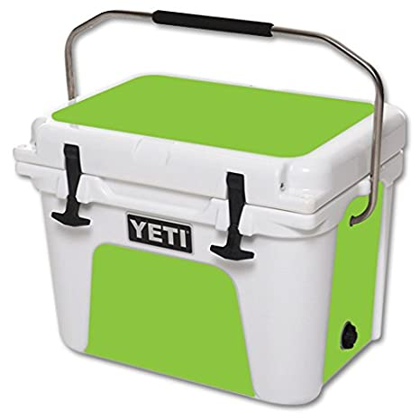 MightySkins Protective Vinyl Skin Decal for YETI Roadie 20 qt Cooler wrap  Cover Sticker Skins Glssy Lime Green