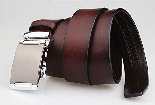 FGSJEJ Ceinture en cuir, ceinture à boucle automatique, ceinture en cuir  pour homme, longue, grande taille (Couleur   Café)  Amazon.fr  Vêtements et  ... bd6342b37b1
