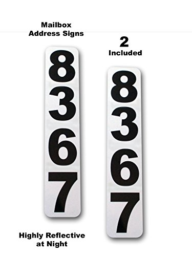 2 Highly Reflective Mailbox Address Plaques … (White)