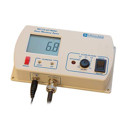 Milwaukee Instruments MC120US pH Monitor with Hi/Low Range Alarm, 2 Point Manual Calibration, 5.5 to 9.5 pH Range