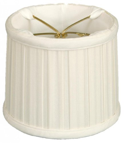 - Royal Designs English Box Pleat Chandelier Shade Size 6, White (CS-210WH)