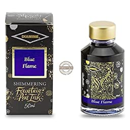 Diamine Shimmer Ink 50 ml Blue Flame - Gold shimmer