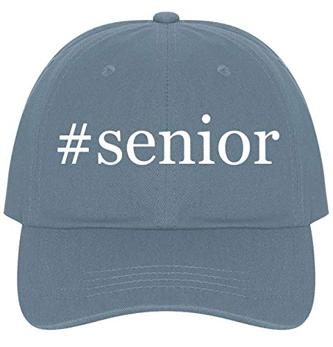 The Town Butler #Senior - A Nice Comfortable Adjustable Hashtag Dad Hat Cap, Light Blue